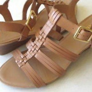 4ac12768ceb8 Franco Sarto Shoes - Franco Sarto Derica Stacked Wedge Sandal in Camel
